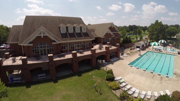 Aerial Photography in St Louis CA Clubhouse